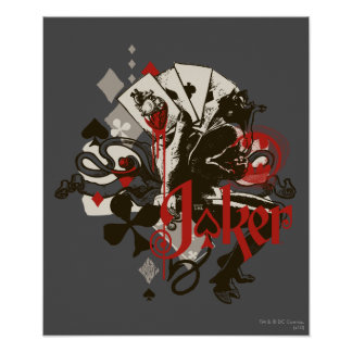 The Joker - 4 Aces Bleeding Heart Devil Poster