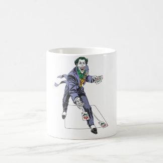 The Joker Casts Cards Basic White Mug