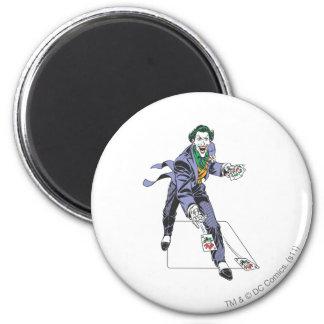 The Joker Casts Cards Fridge Magnets