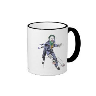The Joker Casts Cards Ringer Mug