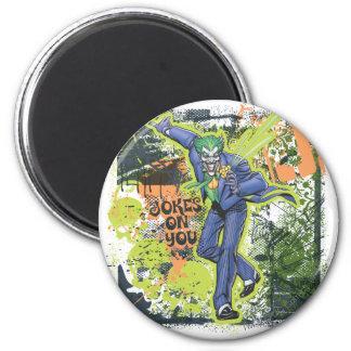The Joker Collage 6 Cm Round Magnet