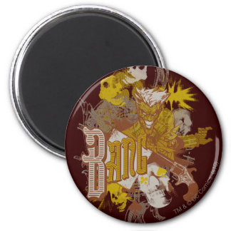 The Joker Gun / Bang Carnival Collage 6 Cm Round Magnet
