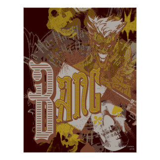 The Joker Gun Bang Carnival Collage Poster