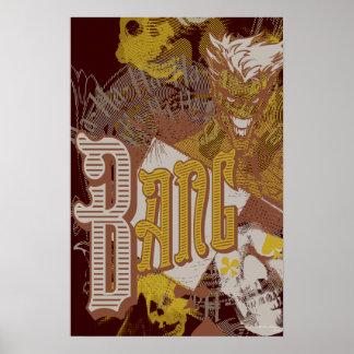 The Joker Gun Bang Carnival Collage Print