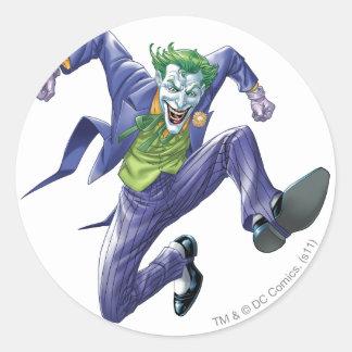 The Joker Jumps Classic Round Sticker