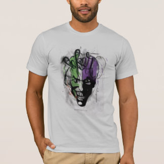 The Joker Neon Airbrush Portrait T-Shirt