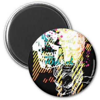 The Joker Neon Montage 6 Cm Round Magnet