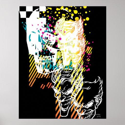 The Joker Neon Montage Print