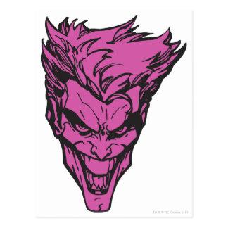 The Joker Pink Postcard