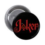 The Joker Playing Card Logo 6 Cm Round Badge
