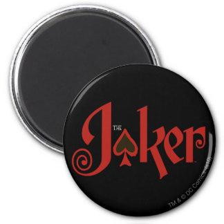 The Joker Playing Card Logo 6 Cm Round Magnet