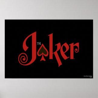 The Joker Playing Card Logo Poster