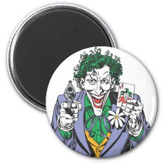 The Joker Points Gun 6 Cm Round Magnet