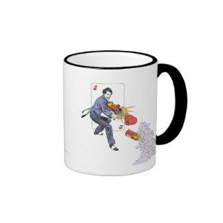 The Joker Shoots Laughing Gas Ringer Mug