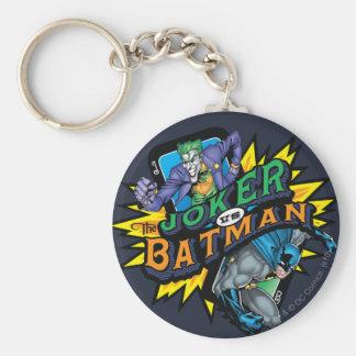 The Joker Vs Batman Basic Round Button Key Ring