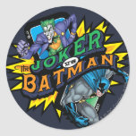 The Joker Vs Batman Round Sticker