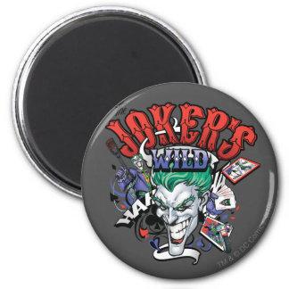 The Joker's Wild 6 Cm Round Magnet