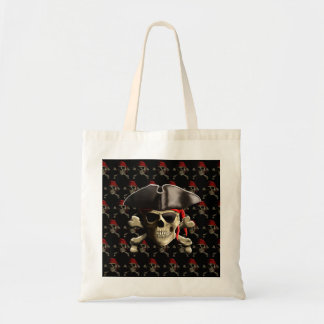 The Jolly Roger Pirate Skull Canvas Bags