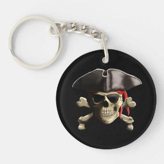 The Jolly Roger Pirate Skull Key Ring