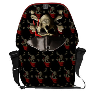 The Jolly Roger Pirate Skull Courier Bag