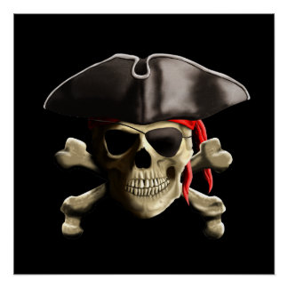 The Jolly Roger Pirate Skull Posters