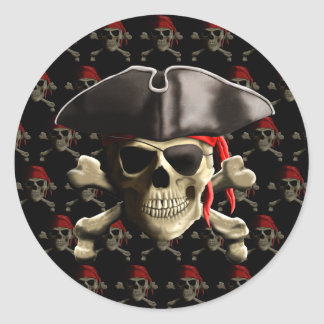 The Jolly Roger Pirate Skull Stickers