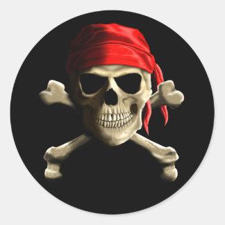 The Jolly Roger Round Sticker