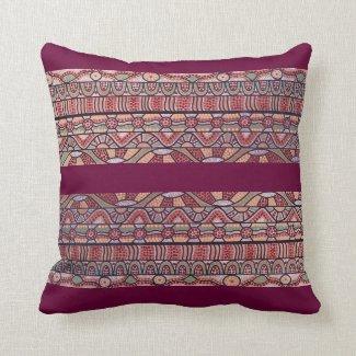The Journey Burgundy Pillow/Cushion Cushions
