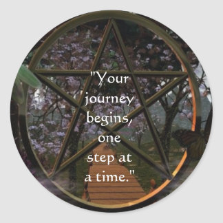 The Journey Classic Round Sticker