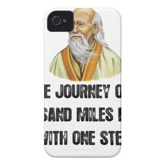 the journey of a thousand miles begins with a sing iPhone 4 cover