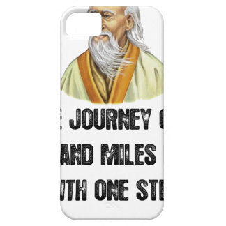 the journey of a thousand miles begins with a sing iPhone 5 cover