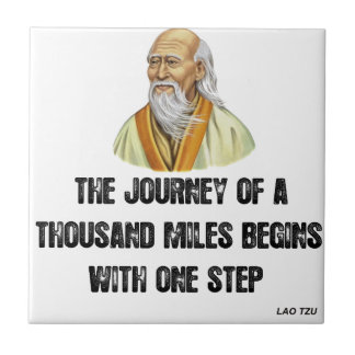 the journey of a thousand miles begins with a sing tile