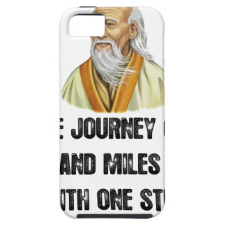 the journey of a thousand miles begins with a sing tough iPhone 5 case