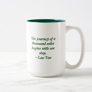 The journey of a thousand miles Two-Tone coffee mug