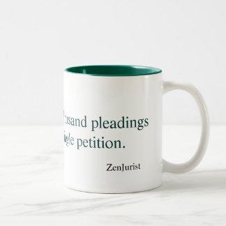 The journey of a thousand pleadings... coffee mug