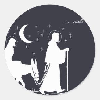 The Journey To Bethlehem Classic Round Sticker