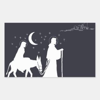 The Journey To Bethlehem Rectangular Sticker