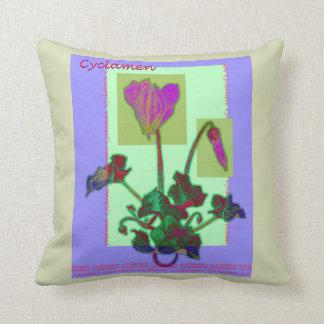 The Joy of Cyclamen Cushion
