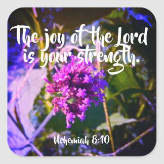 The Joy of the Lord Christian Scripture Stickers