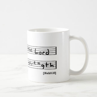 The joy of the lord is my strength coffee mug