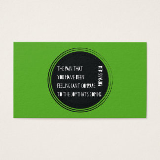 The Joy That's Coming Romans 8:18 Business Card