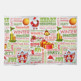 The Joys Of Christmas Tea Towel