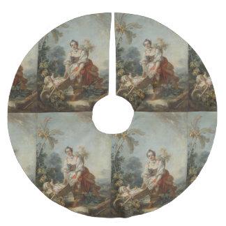 The Joys of Motherhood by Fragonard Brushed Polyester Tree Skirt
