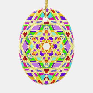 The Judaical vitrail. Ceramic Oval Decoration