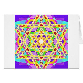 The Judaical vitrail. Greeting Card