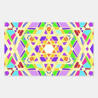 The Judaical vitrail. Rectangular Sticker