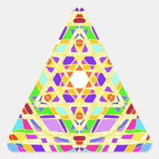 The Judaical vitrail. Triangle Sticker