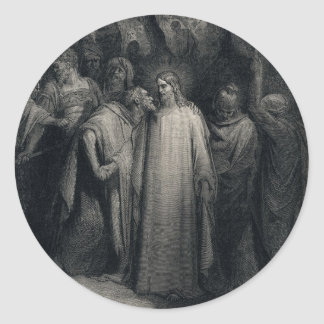 The Judas Kiss by Gustave Dore Classic Round Sticker