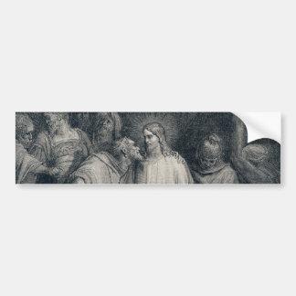 The Judas Kiss Mark 14:45 by Gustave Doré 1866 Car Bumper Sticker
