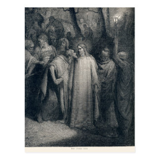 The Judas Kiss Mark 14:45 by Gustave Doré 1866 Postcard